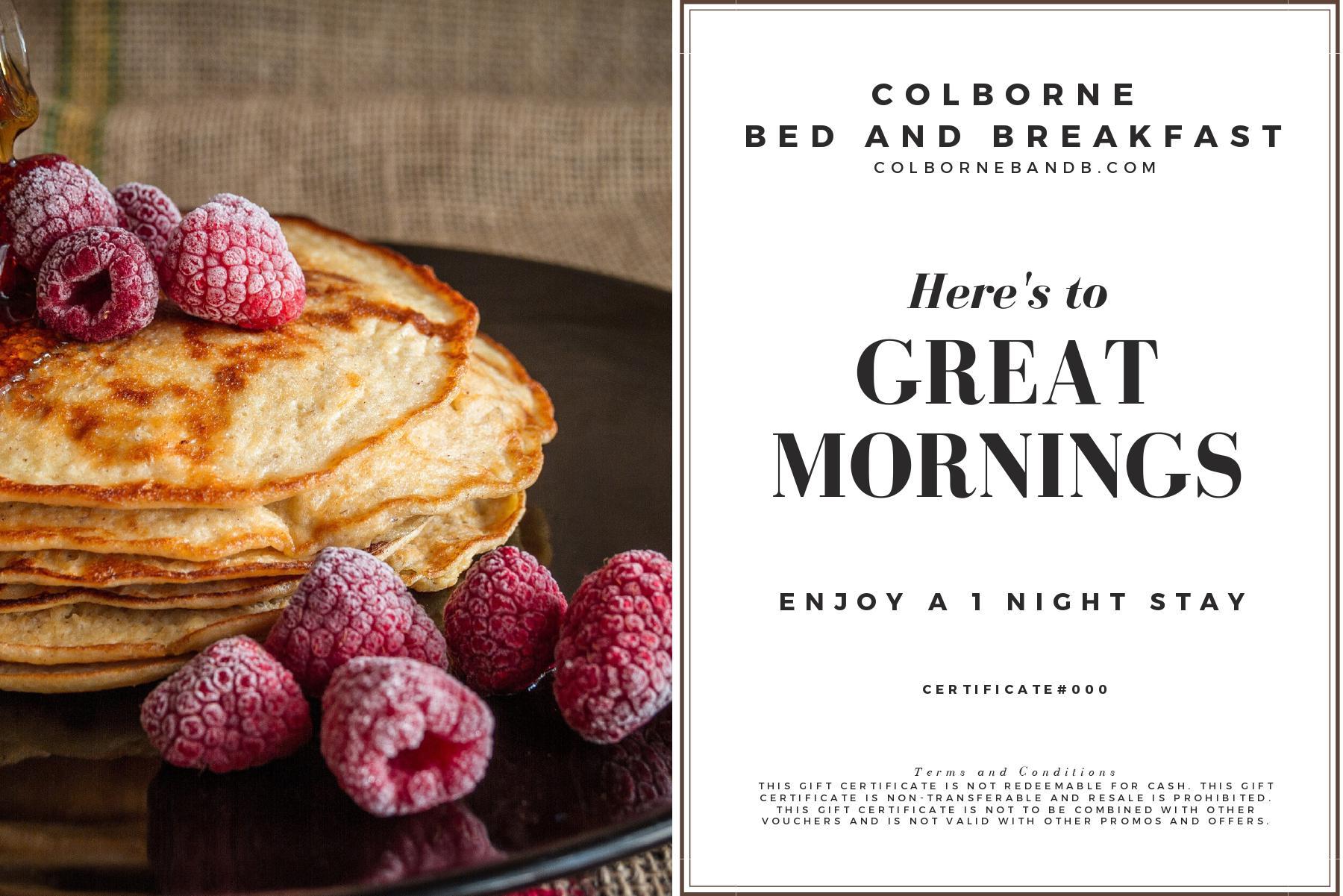 Gift Certificate (Colborne Bed & Breakfast) Image