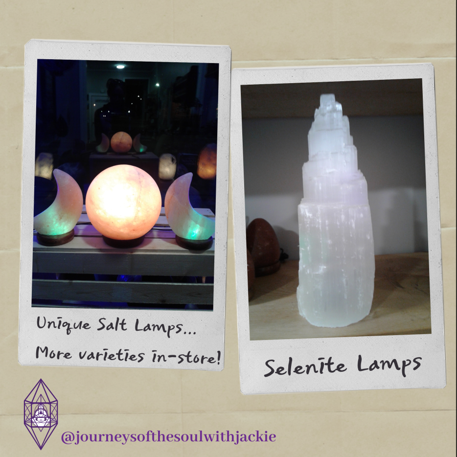 Salt & Selenite Lamp (Journeys of the Soul) Image