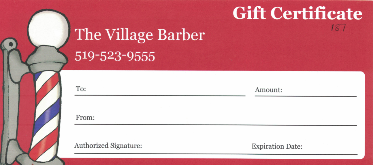 Gift Certificate (The Village Barber) Image